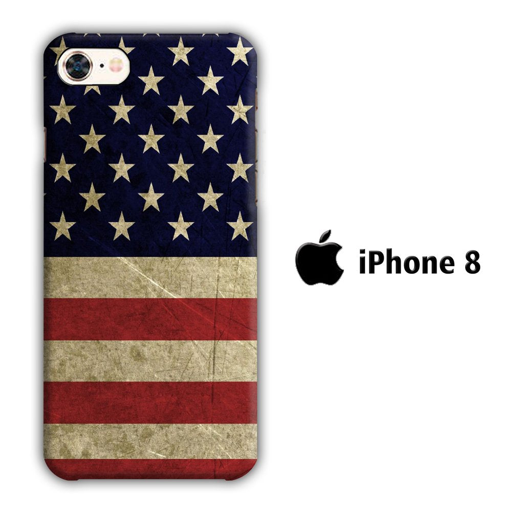 Flag of USA 002 iPhone 8 3D coque custodia fundas