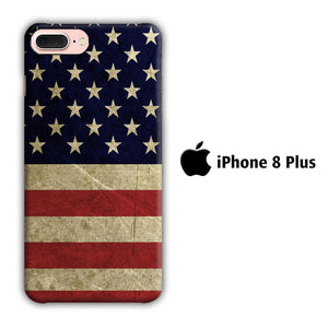 Flag of USA 002 iPhone 8 Plus 3D coque custodia fundas