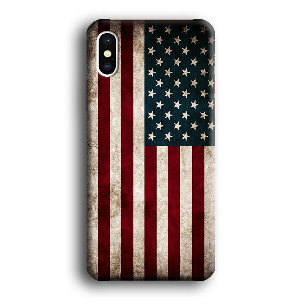 Flag of USA Glory iPhone X 3D coque custodia fundas