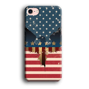 Flag of USA Honour iPhone 7 3D coque custodia fundas