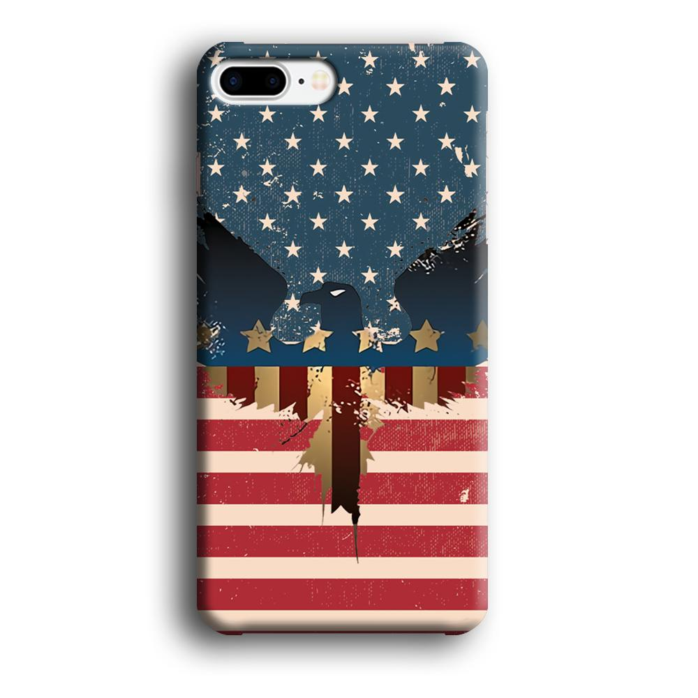 Flag of USA Honour iPhone 8 Plus 3D coque custodia fundas