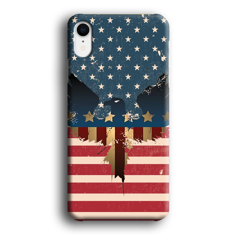 Flag of USA Honour iPhone XR 3D coque custodia fundas