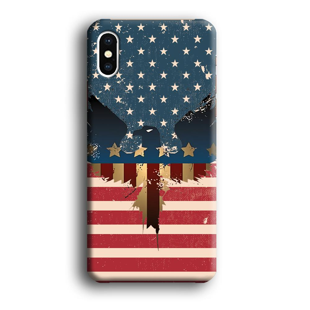 Flag of USA Honour iPhone Xs Max 3D coque custodia fundas