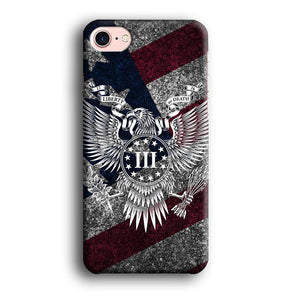 Flag of USA Liberty or Death iPhone 7 3D coque custodia fundas
