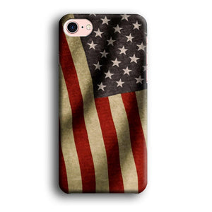 Flag of USA Old Theme iPhone 7 3D coque custodia fundas