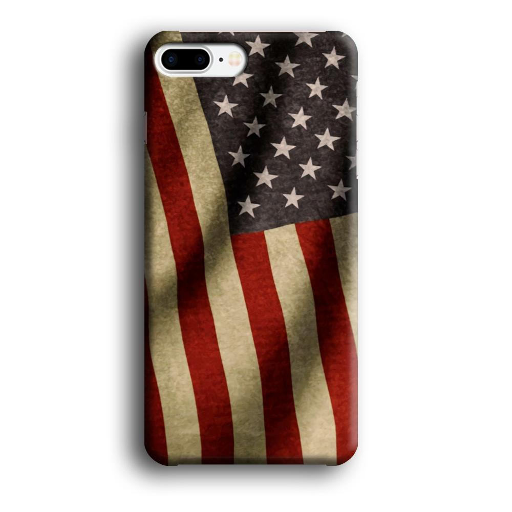 Flag of USA Old Theme iPhone 7 Plus 3D coque custodia fundas