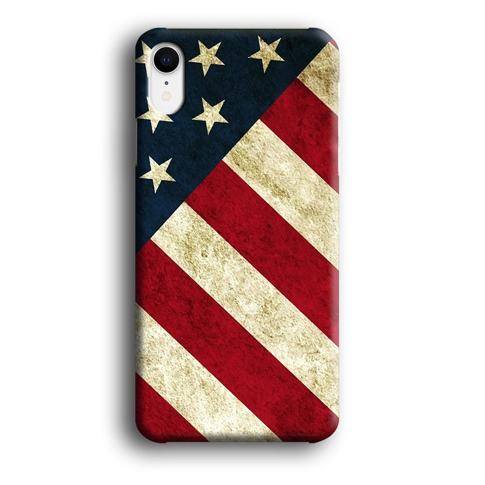 Flag of USA Part of Greatness iPhone XR 3D coque custodia fundas