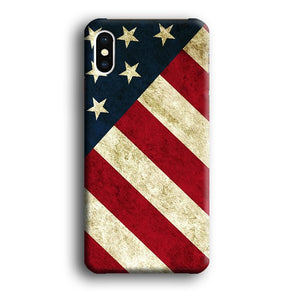 Flag of USA Part of Greatness iPhone Xs 3D coque custodia fundas