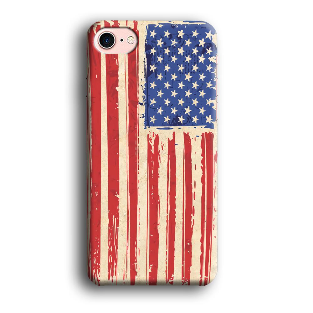 Flag of USA Sketch of Victory iPhone 7 3D coque custodia fundas