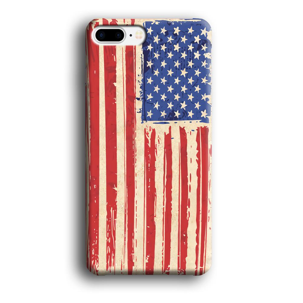Flag of USA Sketch of Victory iPhone 8 Plus 3D coque custodia fundas