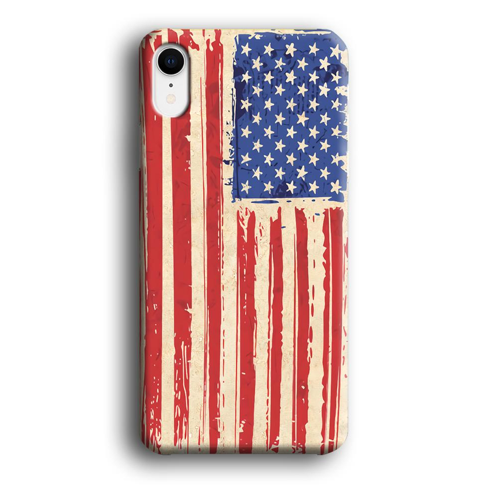 Flag of USA Sketch of Victory iPhone XR 3D coque custodia fundas