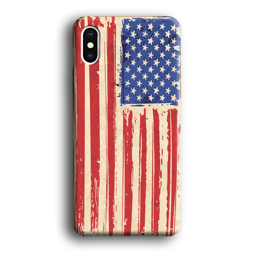 Flag of USA Sketch of Victory iPhone Xs 3D coque custodia fundas