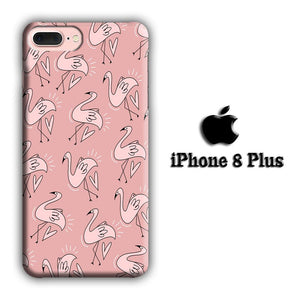 Flamingo Cartoon iPhone 8 Plus 3D coque custodia fundas