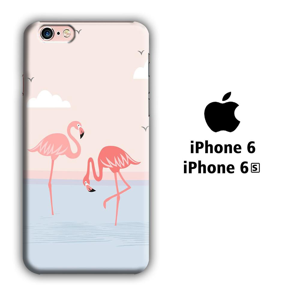Flamingo Couple iPhone 6 | 6s 3D coque custodia fundas