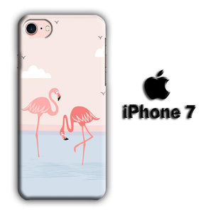 Flamingo Couple iPhone 7 3D coque custodia fundas