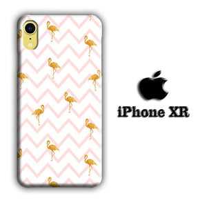 Flamingo Gold and Strip iPhone XR 3D coque custodia fundas