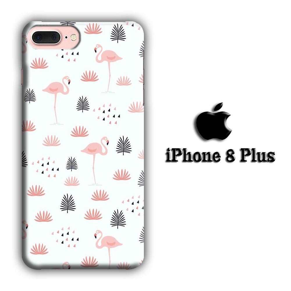 Flamingo Motionless iPhone 8 Plus 3D coque custodia fundas