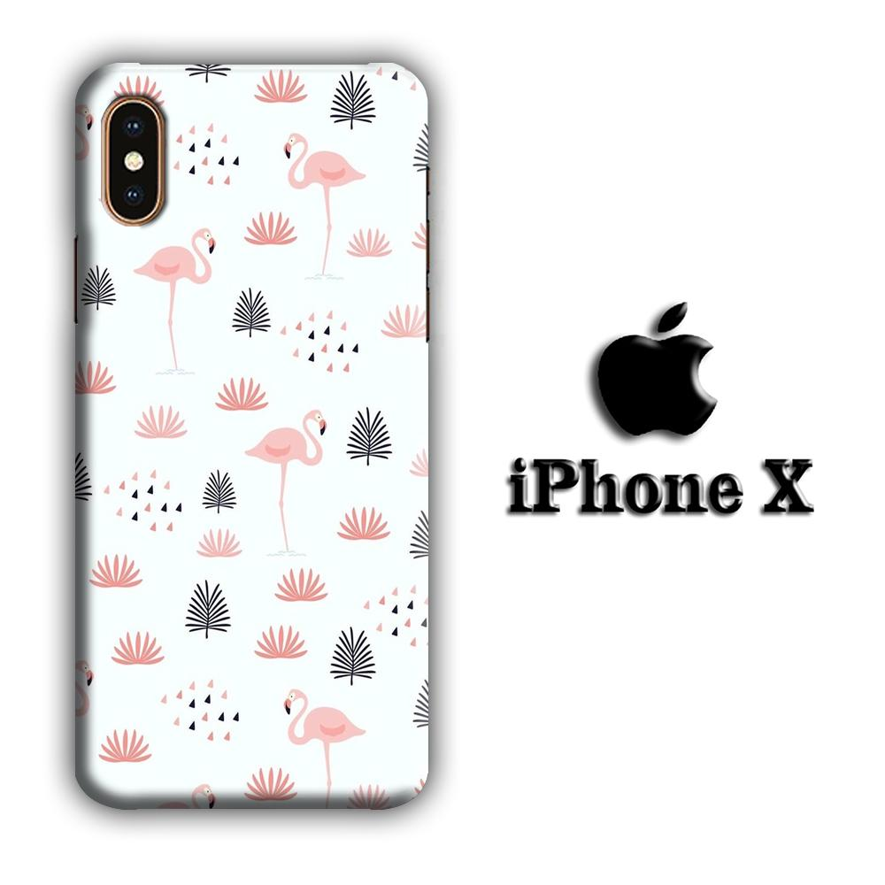 Flamingo Motionless iPhone X 3D coque custodia fundas
