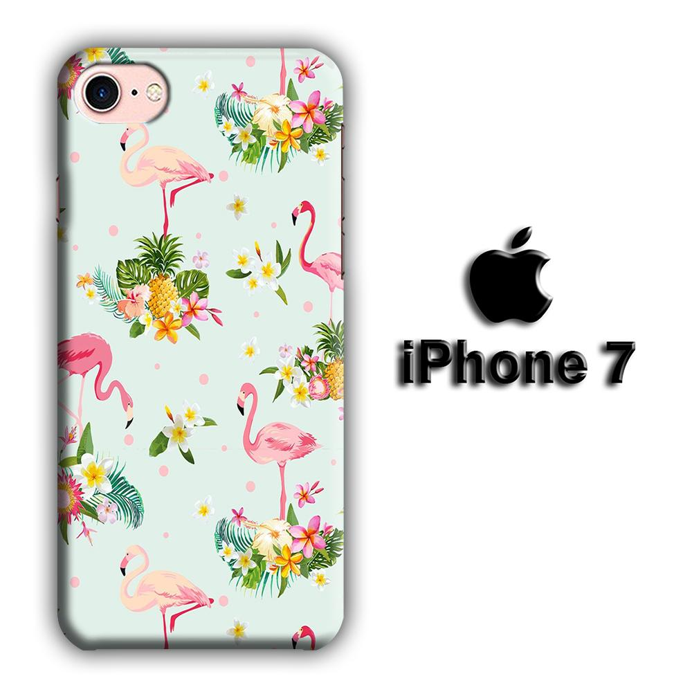 Flamingo Stand at The Garden iPhone 7 3D coque custodia fundas