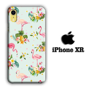 Flamingo Stand at The Garden iPhone XR 3D coque custodia fundas