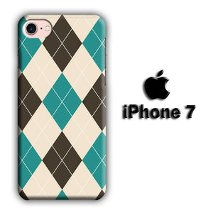 Flanel Soft Blue iPhone 7 3D coque custodia fundas