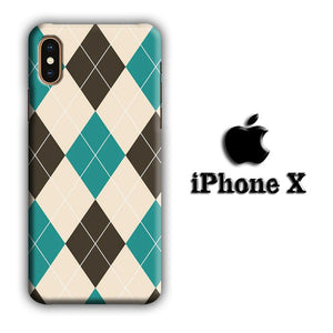 Flanel Soft Blue iPhone X 3D coque custodia fundas