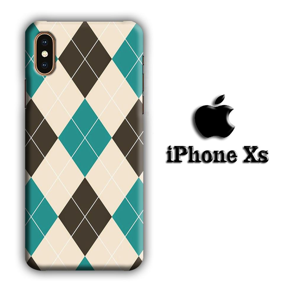 Flanel Soft Blue iPhone Xs 3D coque custodia fundas