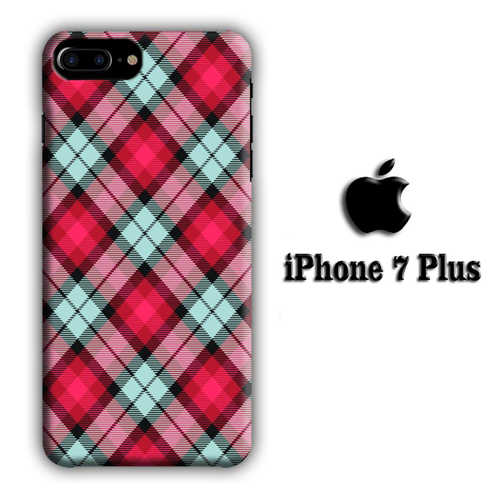 Flanel Soft Red iPhone 7 Plus 3D coque custodia fundas