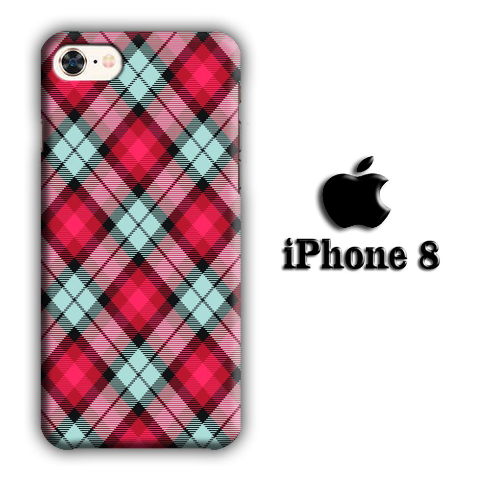 Flanel Soft Red iPhone 8 3D coque custodia fundas