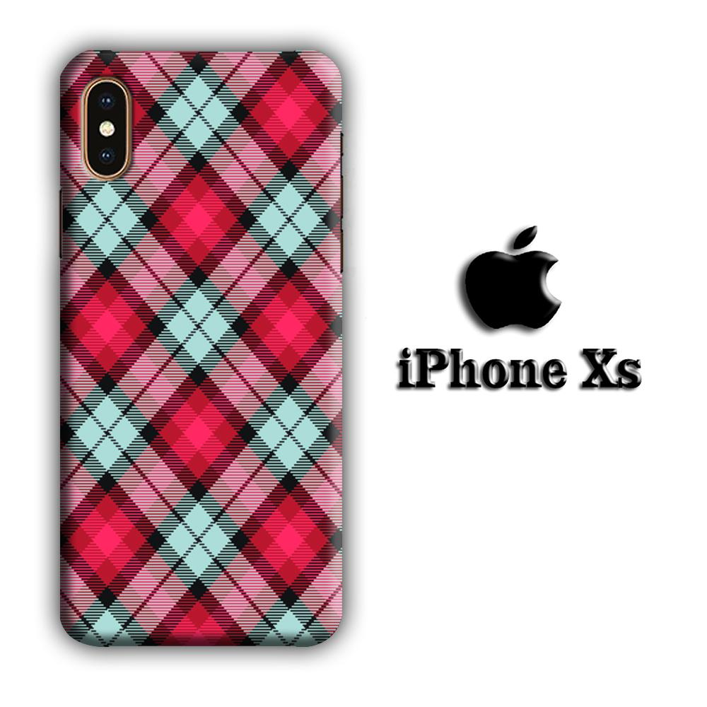 Flanel Soft Red iPhone Xs 3D coque custodia fundas