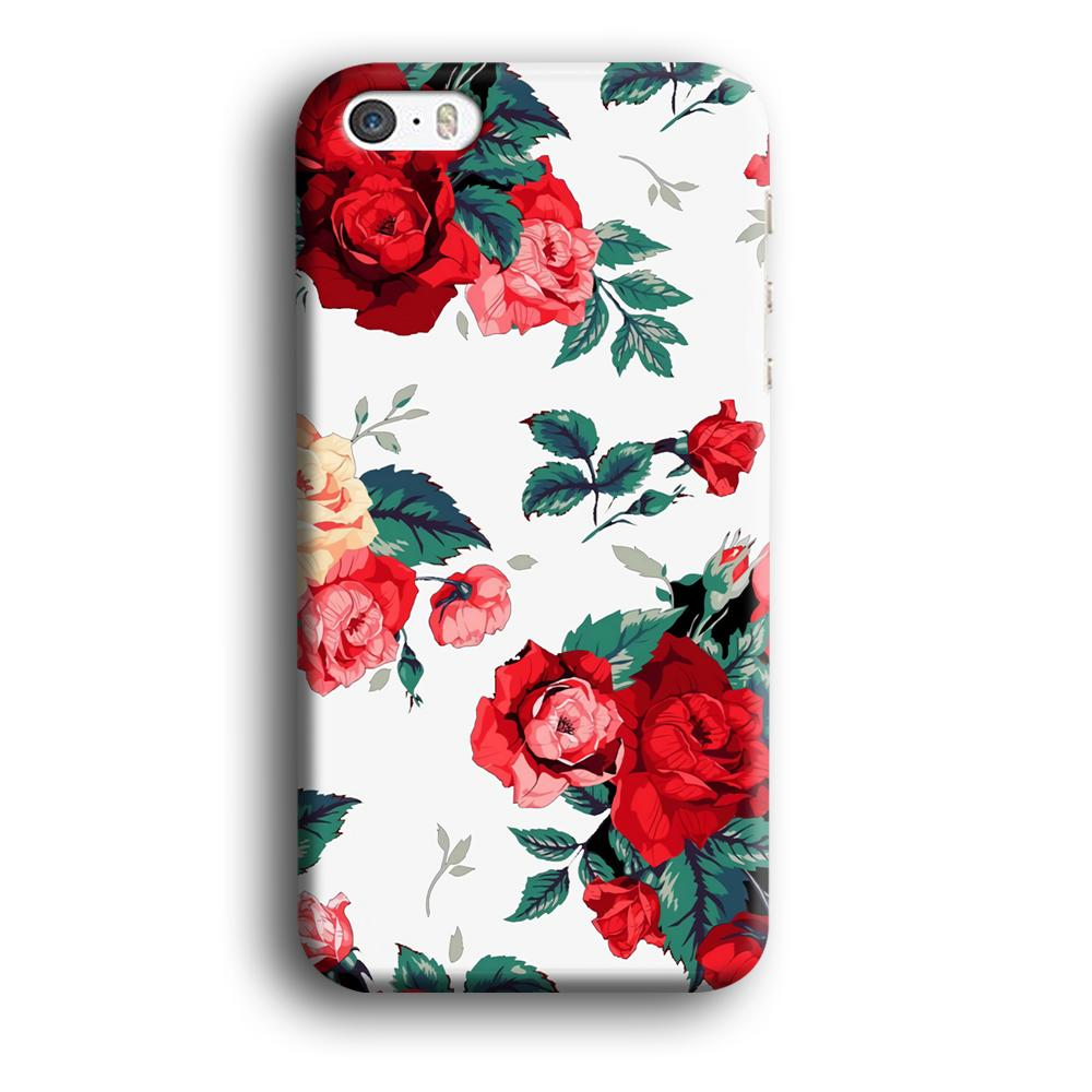 Flower Big Red Rose iPhone 5 | 5s 3D coque custodia fundas