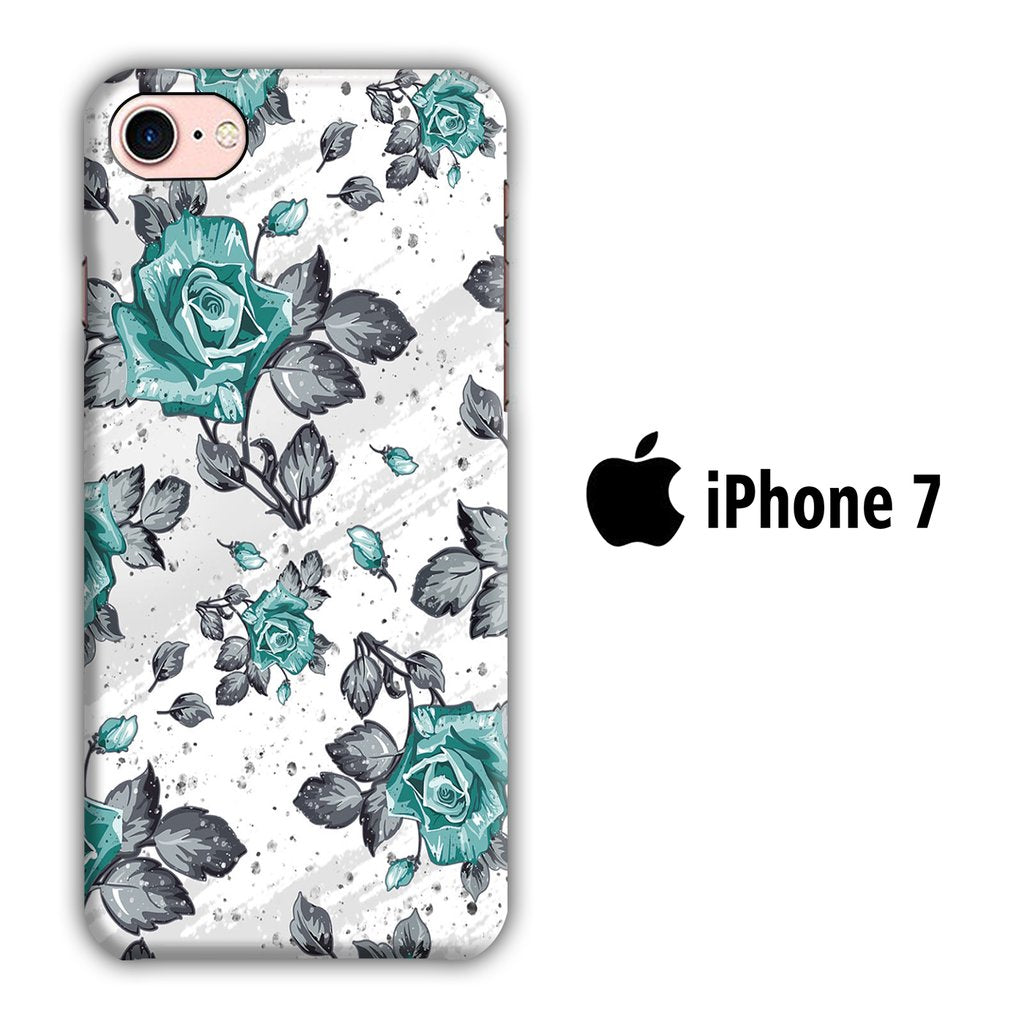 Flower Blue Rose iPhone 7 3D coque custodia fundas