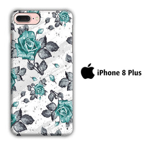 Flower Blue Rose iPhone 8 Plus 3D coque custodia fundas