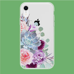 Flower Bucket Art iPhone XR Clear coque custodia fundas