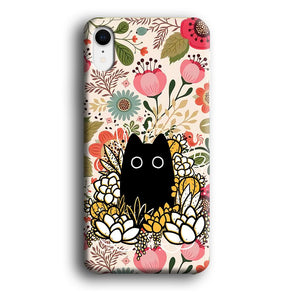 Flower Cat Bucket iPhone XR 3D coque custodia fundas