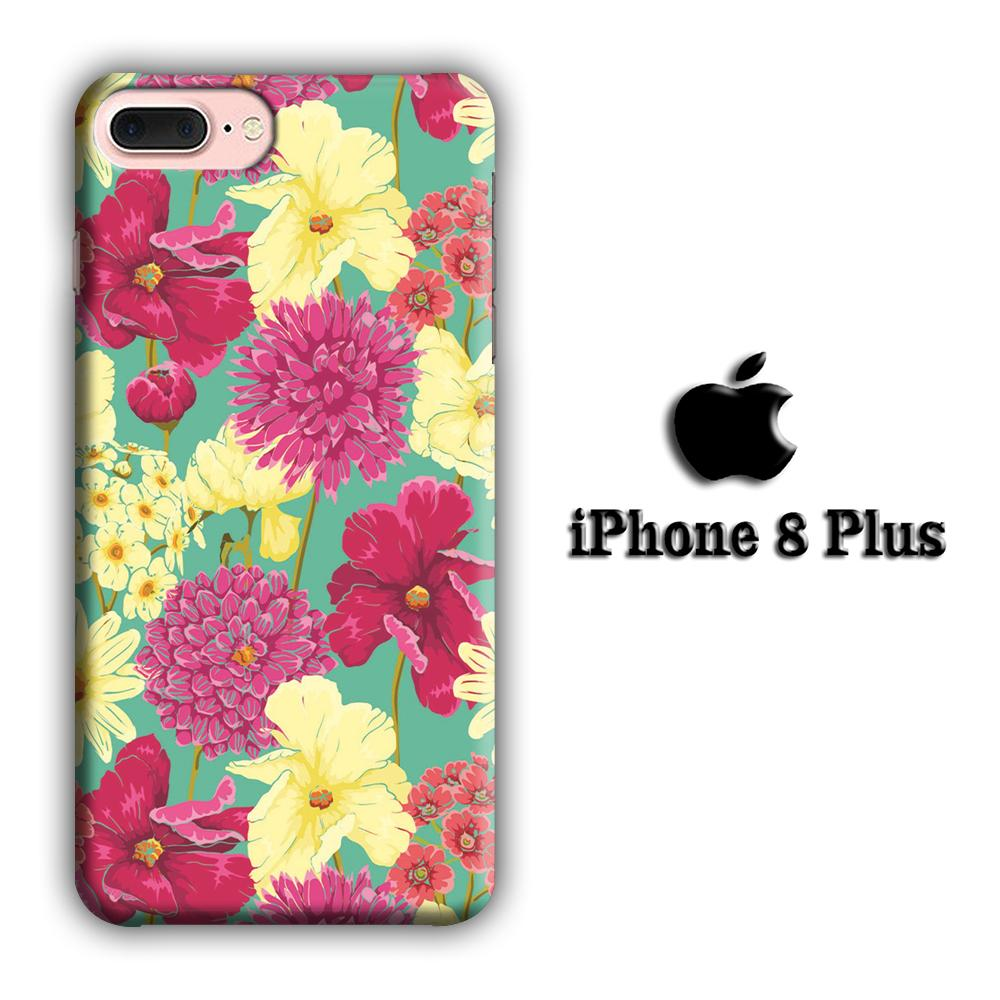 Flower Fervor iPhone 8 Plus 3D coque custodia fundas