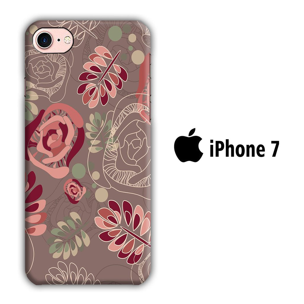 Flower Leaf iPhone 7 3D coque custodia fundas