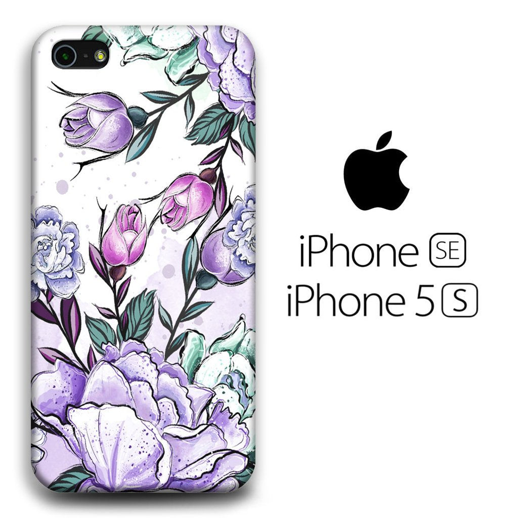 Flower Purple Lisianthus iPhone 5 | 5s 3D coque custodia fundas
