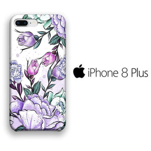 Flower Purple Lisianthus iPhone 8 Plus 3D coque custodia fundas