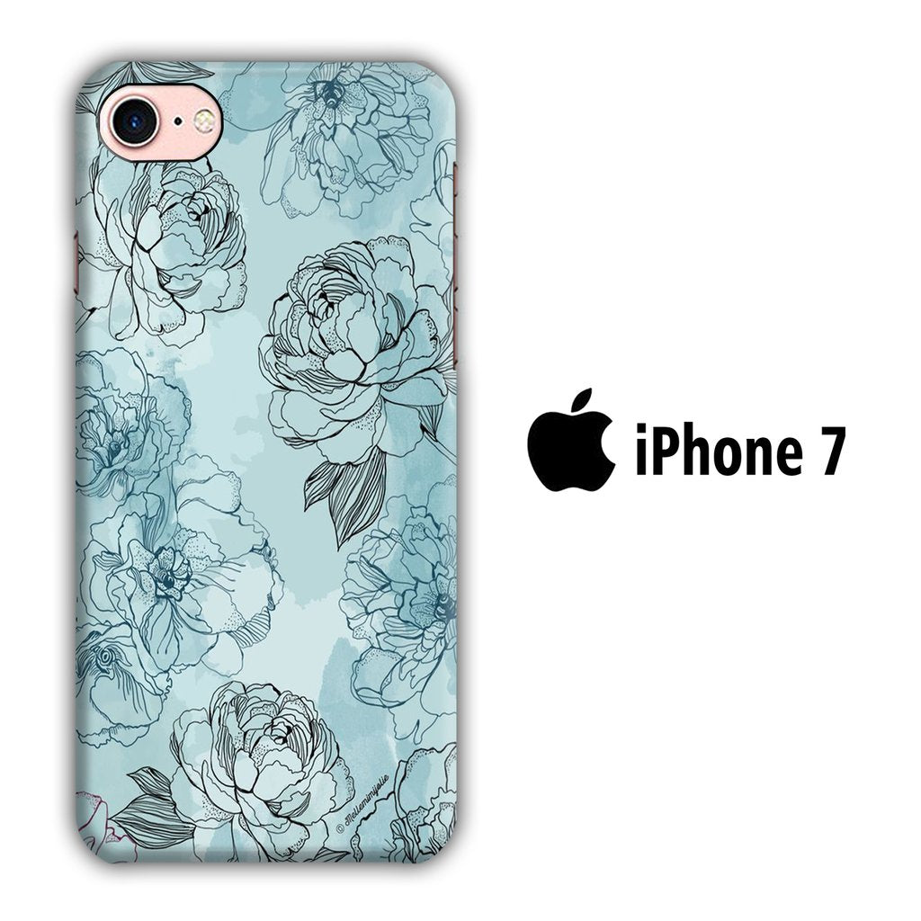 Flower Rise iPhone 7 3D coque custodia fundas