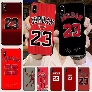 Coque Silicone Iphone 5 6 7 8 X Xr Xs 11 Pro Max SE Jordan 23 Chicago Bulls