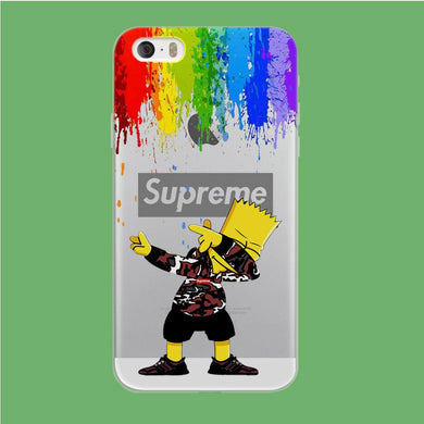 Supreme Bart Colors Drop coque iPhone 5 | 5s Clear