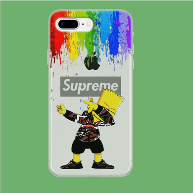 Supreme Bart Colors Drop iPhone 8 Plus Clear coque custodia fundas