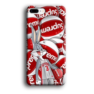 Supreme Bug Bunny Basket Ball iPhone 8 Plus 3D coque custodia fundas