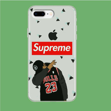 Supreme Bulls Jordan 23 iPhone 8 Plus Clear coque custodia fundas