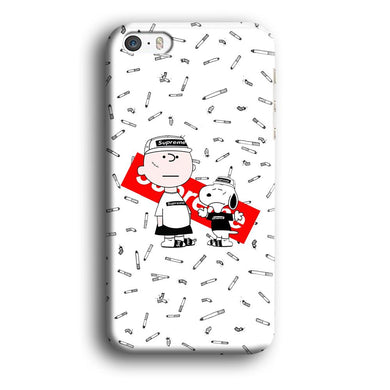 Supreme Cool Charlie and Snoopy iPhone 5 | 5s 3D coque custodia fundas