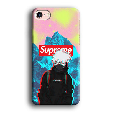 Supreme Kakashi Colour Exposure iPhone 8 3D coque custodia fundas