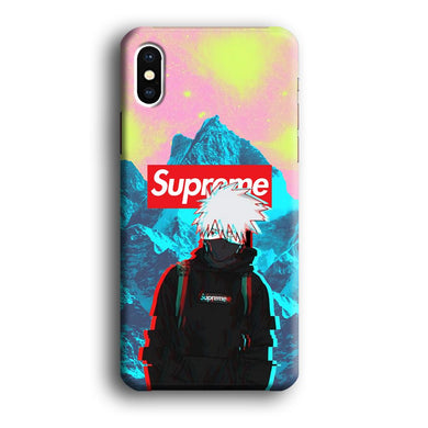 Supreme Kakashi Colour Exposure iPhone X 3D coque custodia fundas