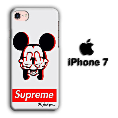Supreme Mickey iPhone 7 3D coque custodia fundas