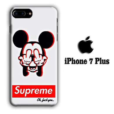 Supreme Mickey iPhone 7 Plus 3D coque custodia fundas